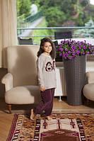 Детская теплая велюровая пижама для девочки HAYS 5468