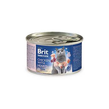Консерва Brit Premium Nature Cat курица с сердечками, 200 гр