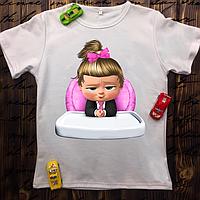 Детская футболка с принтом - Boss baby girl 02