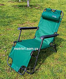 Крісло-шезлонг двох позиційне 156 х 60 х 82 см, Camping. PALISAD