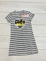 Трикотажне плаття (двосторонні паєтки). 146/152 зростання.