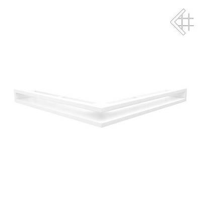 Вентиляционная решетка для камина KRATKI люфт угловая 560х560х60 мм SF белая, фото 2