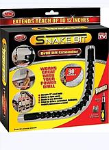 Отвертка с гибкой удлиняющей битой и 6-ю насадками SNAKE BIT