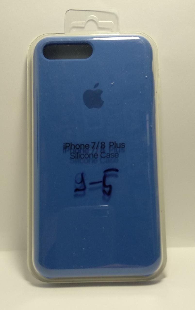 Силіконовий чохол Apple Silicone Case (MMWF2ZM / A) для Iphone 7 / 8 Plus (Blue | Синій)