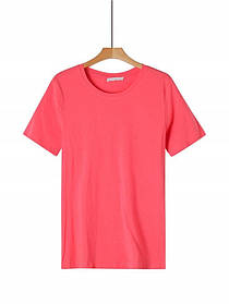 Женская розовая базовая футболка
