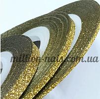 """Лента для дизайна ногтей """"Сахарная нить"""", 0,2 мм, цвет золото"""