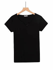 Жіноча чорна базова футболка
