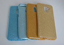 Силикон с блестками HUAWEI P SMART + WHITE / BLUE, фото 2