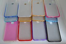 Силикон с блестками IPHONE XR WHITE / BLUE, фото 3