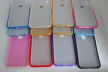 Силикон с блестками XIAOMI MI A3 WHITE / ROSE, фото 3