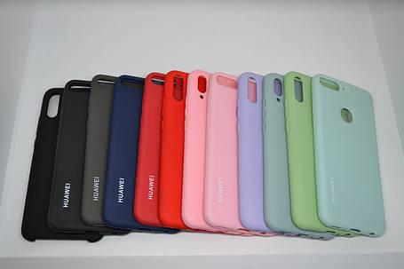 Силіконовий чохол Original Silicone Case HUAWEI P SMART Z DARK BLUE, фото 2