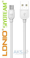 USB кабель LDNio USB Cable Quick Charge&Data micro-USB White