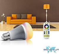 Умная лампочка с пультом Milight, 8W, E27, RGB+CCT, LL015+RL092, фото 1