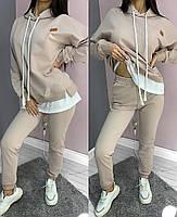 Женский спортивный костюм с имитацией футболки с капюшоном (Норма), фото 3
