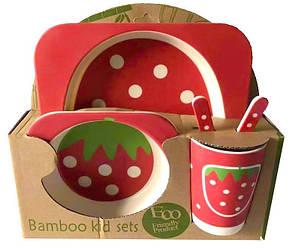 Набор детской посуды Stenson MH-2770-10 клубника 5 предметов 010357, КОД: 1698898