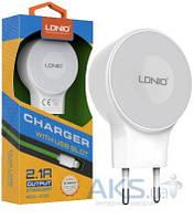 Зарядное LDNio Home Charger 2.1A x 2 USB + microUSB White (A2269)