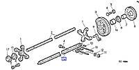 Планка крепления граблин John Deere 332 336 346