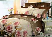 """Двуспальный комплект постельного белья коричневый из полиэстера """"Шоколадный бутон"""""""