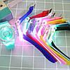 Часы женские Geneva с подсветкой силиконовый ремешок 9 цветов в наличии, фото 4