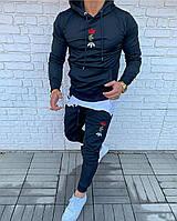 Костюм спортивный мужской темно-синий Adidas новинка 2021