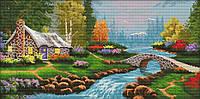 Набор для вышивания крестом 62х34 Альпийская сказка Joy Sunday FA002, фото 1