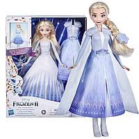 Кукла Эльза Королевский наряд трансформация Холодное сердце 2 Disney Frozen Hasbro (E9420)