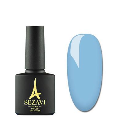 Гель-лак Sezavi Bleu №BL50 (світло-синій, емаль), 8мл, фото 2