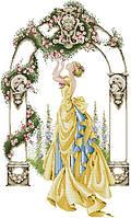 Набір для вишивання хрестом 44х65 Дама в жовтій сукні Joy Sunday R051, фото 1