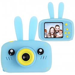 Дитячий цифровий фотоапарат XL 500R Зайчик Синій