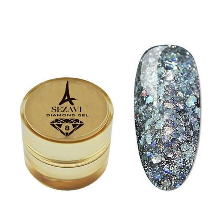 Рідкі блискітки SEZAVI Diamond №8 (смарагдовий), 5g, фото 2