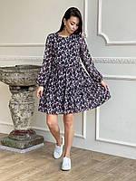 Свободное платье из шифона  ЛЧ 028D/1, фото 1