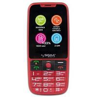 Мобильный телефон Sigma Comfort 50 Elegance 3 (1600 mAh) SIMO ASSISTANT Red (4827798233795)