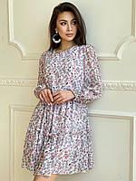 Свободное платье из шифона  ЛЧ 028D3