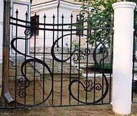 Будинки з кованими парканами
