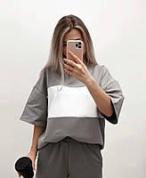 Легкий женский спортивный костюм с футболкой в полоску (Норма), фото 5