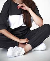 Легкий женский спортивный костюм с футболкой в полоску (Норма), фото 6