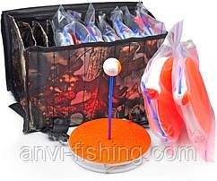 Гуртки рибальські оснащені - 10 штук + сумка - Дубок