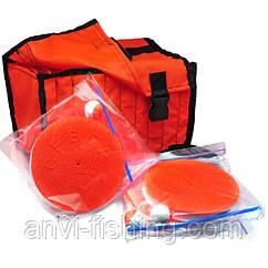 Гуртки рибальські оснащені - 10 штук + сумка помаранчева