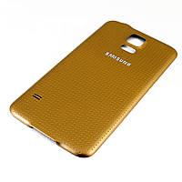 Задняя крышка для Samsung S5, G900, Original, Золотистый /панель/корпус/накладка /самсунг