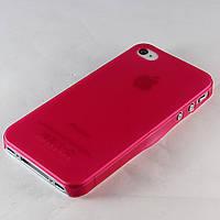 Чехол-накладка для Apple iPhone 4/4S ультратонкий матовый, HOCO, Малиновый /case/кейс /айфон, фото 1