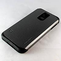 Чехол-накладка для Samsung Galaxy S5, G900, SGP Slim Armor, серый /case/кейс /самсунг галакси
