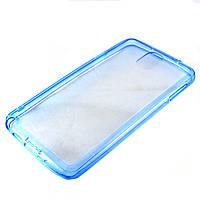Чехол-накладка для Samsung Galaxy Note 3, N9000, силиконовый с заглушками, голубой /case/кейс /самсунг галакси