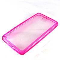 Чехол-накладка для Samsung Galaxy Note 3 N9000 SM-N9000 SM-N900, силиконовый с заглушками, розовый /case/кейс /самсунг галакси/Samsung N9005 SM-N9005