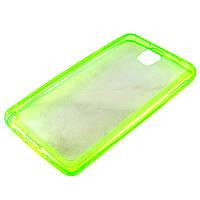 Чехол-накладка для Samsung Galaxy Note 3, N9000, силиконовый с заглушками, салатовый /case/кейс /самсунг галакси