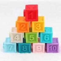 Кубики-конструктор HE0232 текстурні цифри.