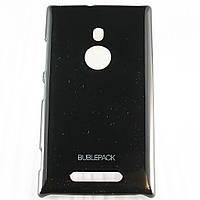 Чехол-накладка для Nokia Lumia 925, пластиковый, Buble Pack, Черный /case/кейс /нокиа, фото 1