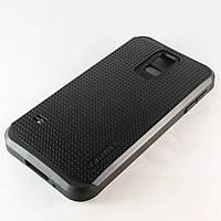 Чехол-накладка для Samsung Galaxy S5, G900, SGP Slim Armor, Черный /case/кейс /самсунг галакси