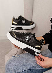 Chanel Sneakers Leather Black