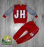 Детский костюм утепленный на флисе красный, фото 2