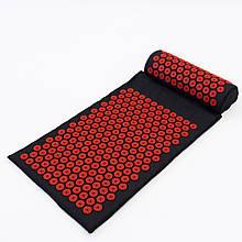 Массажный коврик Аппликатор Кузнецова + валик массажер для спины/шеи/ног/стоп/головы/тела OSPORT Pro (apl-011)